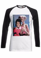 Alien ET Hugs Michael Jackson Men Women Long Short Sleeve Baseball T Shirt 2037