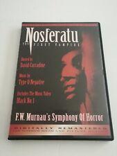 NOSFERATU THE FIRST VAMPIRE (Dvd,2000)  Hosted by David Carradine.