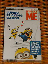 Cardinal® Despicable ME Jumbo Playing Cards ~ New!