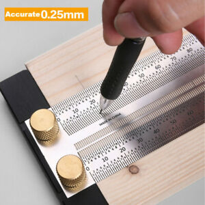 Woodworking Marking T-Rule Scale Mark Gauge Carpenter Measuring Tool ASE