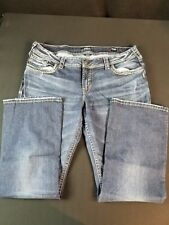 WOMENS JEANS SILVER SUKI size20 /33in