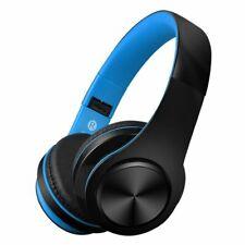 Foldable Wireless Bluetooth Headphone Headset Stereo Super Bass Earphone Blue