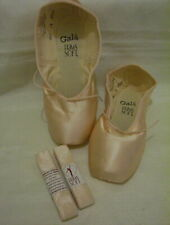 DANCE BALLET POINT TOE SHOES, GALA 4.5XXXX, PINK PRIMA SOFT, RIBBON,NWT,MSRP$69