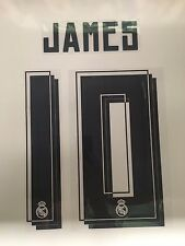 OFFICIAL REAL MADRID Name Set - JAMES Rodriguez #10