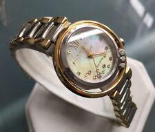 Ladies Genuine Citizen Eco Drive L Sunrise Solar Watch Gold Diamond EM0324-58D