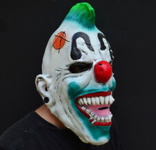 Creepy Evil Scary Halloween Clown Mask Rubber Latex Punked ANARCHY CLOWN