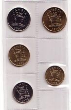 Zambia    set 5  monete 1992 FDC
