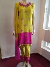 Readymade Indian Pakistani bollywood embellished 3pc churidar salwar Kameez 42