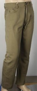 Polo Ralph Lauren Classic 867 Olive Green Tan Denim Jeans Leather Tag NWT