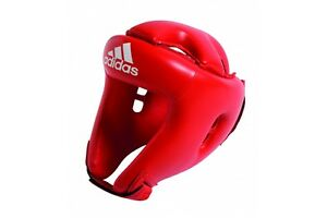 Adidas Rookie Boxing Head Guard Red Sparring Protection Mens Womens Boys