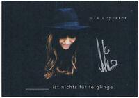 Mia Aegerter - original signierte Autogrammkarte - hand signed
