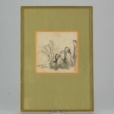 Antique 19th c Chinese painting China Antique Seal Wang Yuanzhao 1821-1898