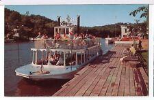Paddlewheel Excursion Boat Island Queen, Anchor Park Saugatuck Mi Postcard 1960s