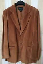 Danier BROWN Leather Jacket Suede coat Button up SIZE - SM