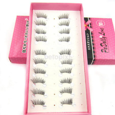 10 pairs Fake Natural Half Mini Corner Winged False eyelashes Cute eye lashes FR