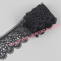 FP85A 1 Yards Lace Trim Ribbon For Dress Skirt Embroidered DIY Sewing Handicraft