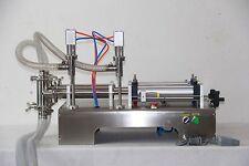 two double dule nozzles pneumatic liquid filling machine100-1000ml for liquid T