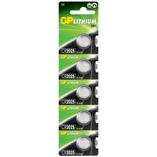 5 x GP CR2025 3V Lithium Coin Cell Battery 2025, SB-T14, 280-205 (Expiry: 2029)