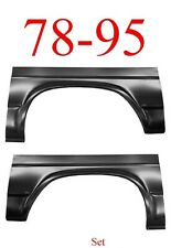 78 95 Chevy Van Rear Arch Set, GMC G10 G20 G30 Rust Repair 0810-125, 0810-126