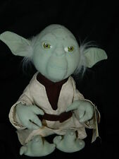"vintage 1998 Star Wars Classic Collection Yoda Plush Toy with tags 12"" sitting"