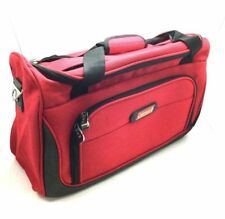 "New Coleman 17"" Red Tote Traveler Duffel Boarding Bag Carry On Item Fit Luggage"