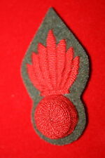 BRITISH ARMY WW1 TRENCH MORTAR GRENADE TRADE BADGE RED