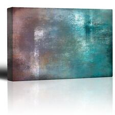 Red and Blue Gradient Watercolor Background with Streaks - Canvas - 12x18 inches
