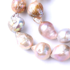 25pc/Strd Natural Keshi Pearl Beads Thistle Smooth Drop Loose Bead Craft 15~17mm