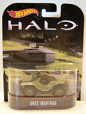 HOTWHEELS RETRO HALO  UNSC WARTHOG WITH RUBBER TYRES