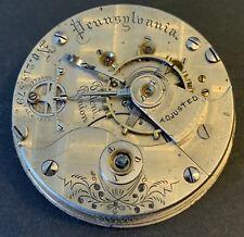 Illinois Gr-103, 18sz. 15j. Pocket watch Mvmt/Dial! Runs! Pennsylvania!