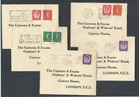 Great Britain 1960s FIVE Wilding Covers Cover Postal History Slogan Slogans