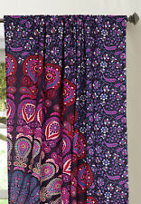 Indian Handmade Badmeri Mandala Cotton Window Door Cover Curtain Hanging Drape