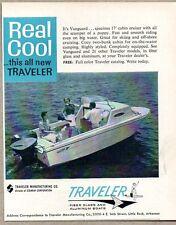 1962 Print Ad Traveler Vanguard 17' Cabin Cruiser Boats Little Rock,Arkansas