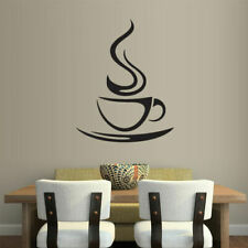 Wall Vinyl Sticker Kitchen Decal Coffee Curly Cup Hot (Z1792)