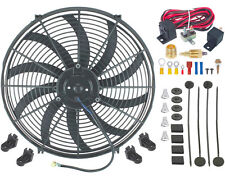 "16"" INCH ELECTRIC RADIATOR FAN HIGH 3000+ CFM THERMOSTAT WIRING SWITCH RELAY KIT"