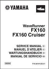 Yamaha Waverunner FX160 / FX 160 Cruiser Jet Ski Service Manual on a CD