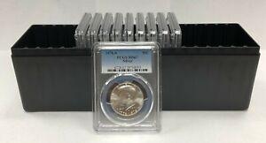 10 - 1976 S Kennedy Silver Half Dollar PCGS MS67 10 Coin Set
