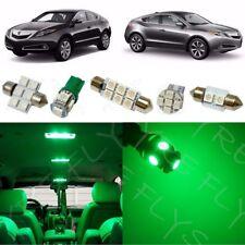 13x Green LED Interior Lights Package Kit for 2010-2013 Acura ZDX + Tool AZ1G