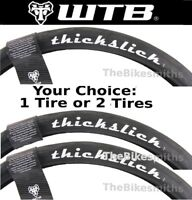 "1 or 2-Pack WTB Thickslick 29X 2.10"" Comp Bike Fast Smooth Slick Black 29er Tire"