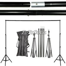 10Ft Photography Background Support Stand Photo Backdrop Crossbar With Case Kit