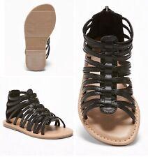 Toddler//Youth Mudd 168591 Rorie Gladiator Flat Sandals New Black I40