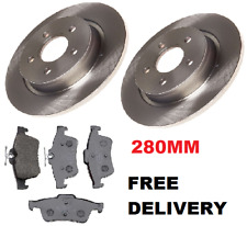 2006-2012 TWO REAR BRAKE DISCS AND PADS SET NEW VOLVO C30 R DESIGN SPORT DRIVE