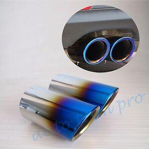2X Rear Muffler Tail Pipe Exhaust Silencer For BMW E90 E92 E93 325 328 2006-2010