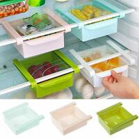 Fridge Slide Storage Rack Freezer Space Saving Organizer Shelf Holder Flexible