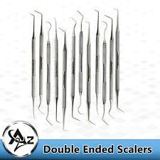New Listing12 Dental Hygiene Probe Pickstarter Removing Scaler Instrumentsstainless Steel