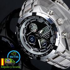 Reloj de Hombre Digital Militar Deportivo Acero Para Hombres Led Caballero Negro