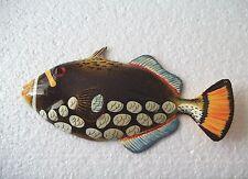 Tropical Fish Wall Plaque Tiki Bar Beach Pool Nautical Decor Size 6 inch TFW33