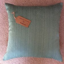 """New 16""""x16"""" cushion cover Next mini geo teal fabric teal zip fasten made in UK"""