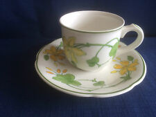 Villeroy & Boch Geranium coffee cup & saucer (saucer has dark paint specks )