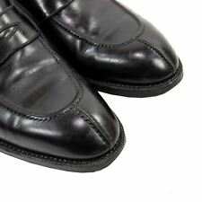 Peluso Napoli 751 Last Black Leather Lined Goodyear Strapped Spit Toe Loafers 9